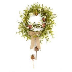 Burlap Potter's Shed Wreath