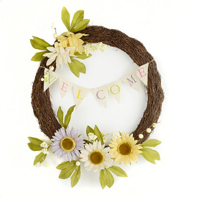 Sunflower Burst Welcome Wreath