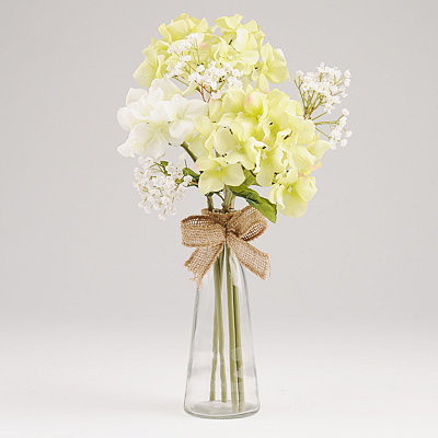 Hydrangea and Baby's Breath Arrangement