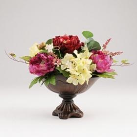 Peony, Rose, & Hydrangea Pedestal Bowl Arrangement