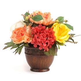 Peony, Rose, & Hydrangea Arrangement