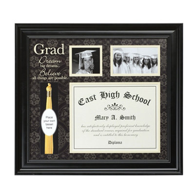 Black Framed Graduation Diploma Collage