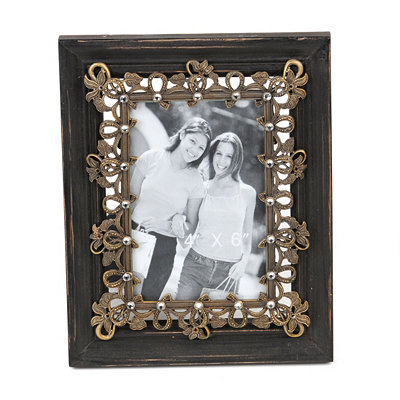 Rustic Floral Ribbons Picture Frame, 4x6
