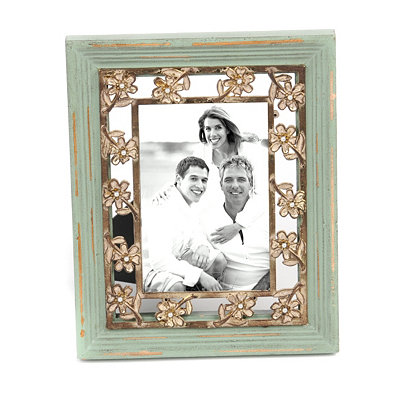 Distressed Green Pearl Frame, 4x6