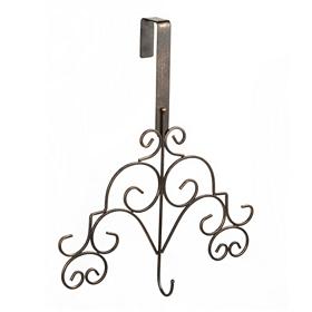 Bronze Scroll Wreath Hanger