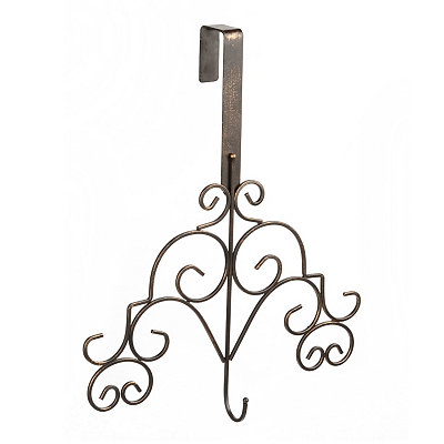 Bronze Scroll Wreath Hanger