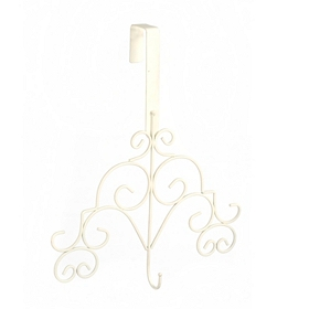 White Scroll Wreath Hanger