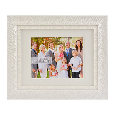 Textured Pearl White Picture Frame, 8x10