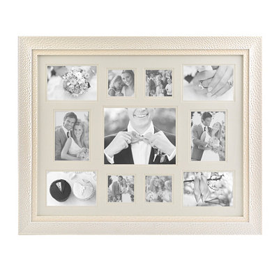 Textured Pearl White Collage Frame