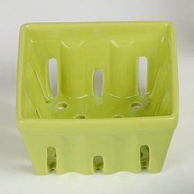 Green Ceramic Berry Basket