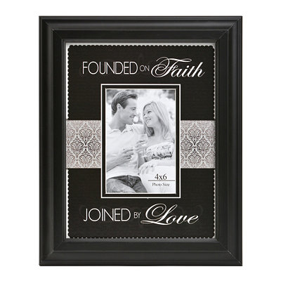 Founded on Faith Picture Frame, 4x6