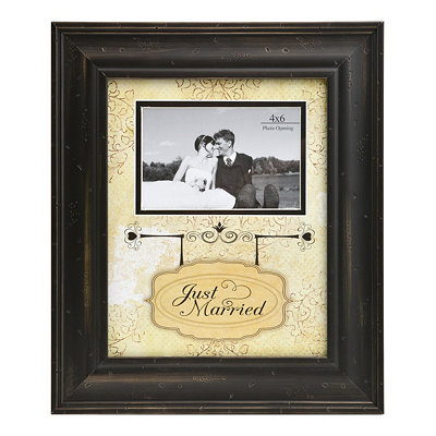 Just Married Picture Frame, 4x6