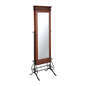 Mahogany Jewelry Armoire Cheval Mirror