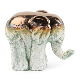 Metallic Stone Ceramic Elephant Statue