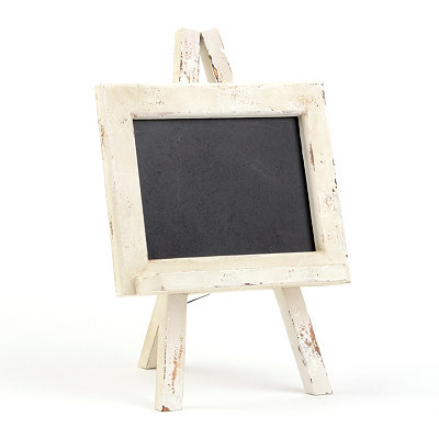 Distressed Cream Chalkboard Easel
