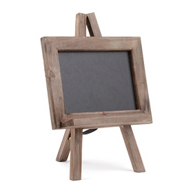 Distressed Natural Chalkboard Easel