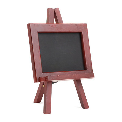 Distressed Red Chalkboard Easel