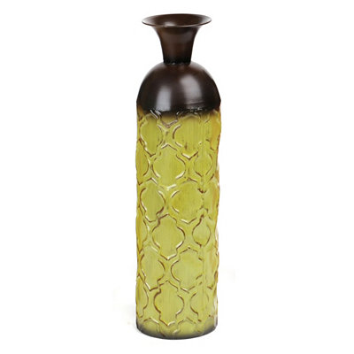 Geometric Green Floor Vase