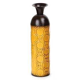 Geometric Yellow Floor Vase
