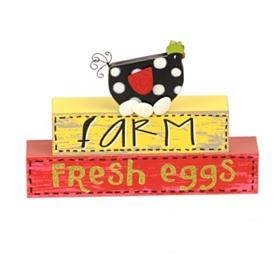 Farm Fresh Eggs Kitchen Word Block