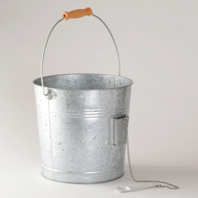 Galvanized Beverage Pail with Bottle Opener