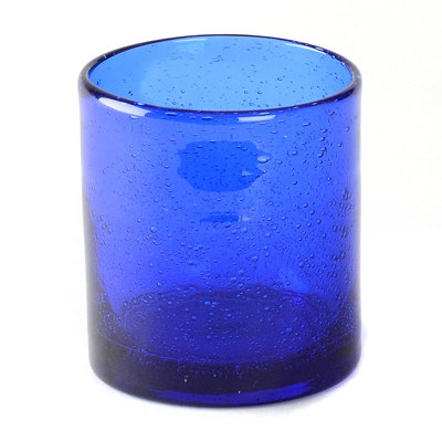 Cobalt Iris Double Old-Fashioned Glass