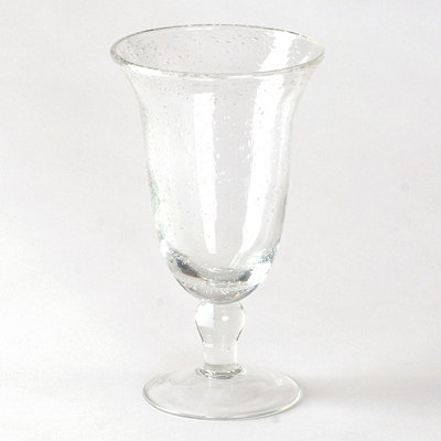 Clear Iris Footed Iced Tea Glass