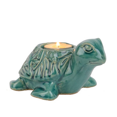 Turquoise Sea Turtle Tealight Candle Holder