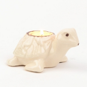 White Sea Turtle Tealight Candle Holder