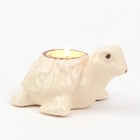 White Sea Turtle Tealight Candle Holder