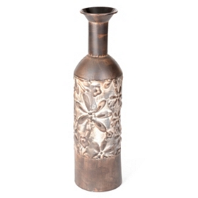 Floral Bottle Vase, 21 in.