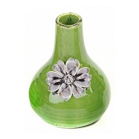 Ceramic Blue Flowers Vase