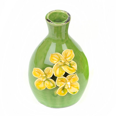 Ceramic Yellow Flowers Vase