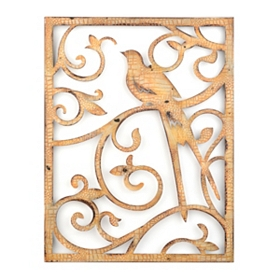 Scrolls & Birds II Metal Wall Plaque