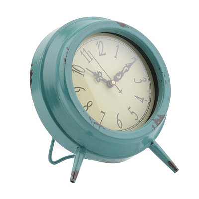 Blue Colorburst Tabletop Clock