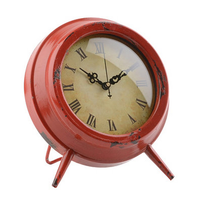 Red Colorburst Tabletop Clock