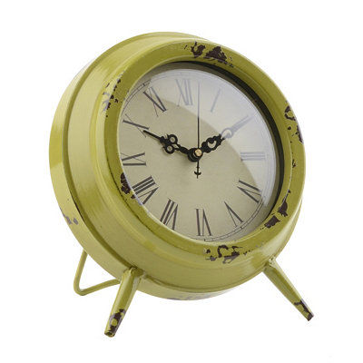Green Colorburst Tabletop Clock