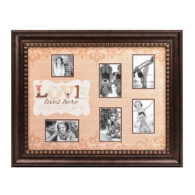 Love Lives Here Collage Frame