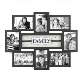 Family Shadowbox Black Collage Frame