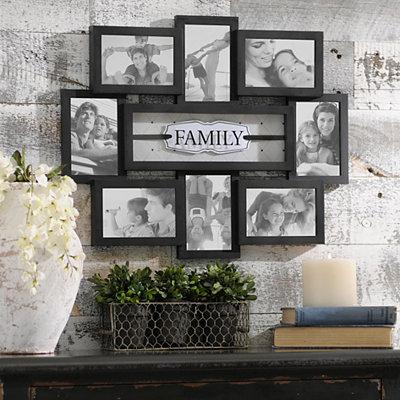 Family Shadowbox Black Collage Frame