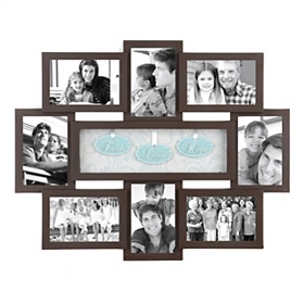Faith Hope Love Shadowbox Brown Collage Frame