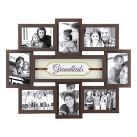 Grandkids Shadowbox Brown Collage Frame