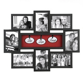 Live Love Laugh Shadowbox Black Collage Frame