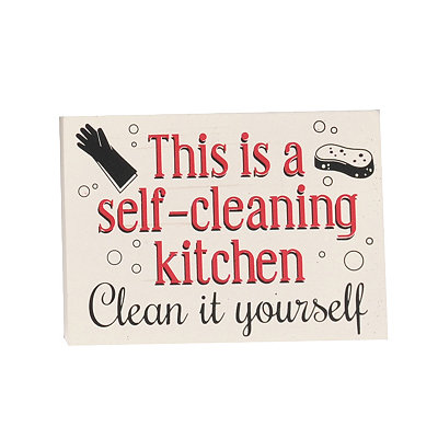 Self-Cleaning Kitchen Word Block