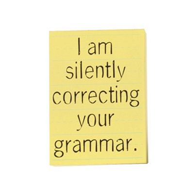 Silently Correcting Your Grammar Wall Plaque