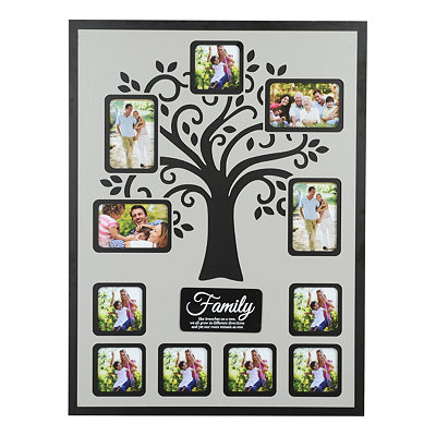 Family Tree Cutout Collage Frame