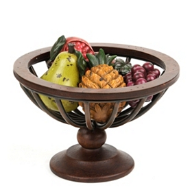 Resin Fruit and Bowl Set