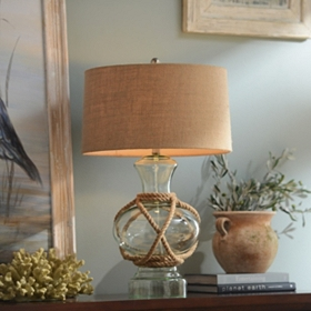 Woven Glass Table Lamp