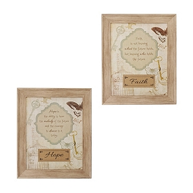 Faith & Hope Framed Wall Plaques