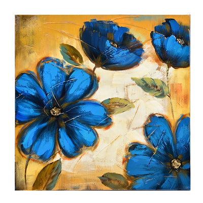Blue Blossoms I Canvas Art Print